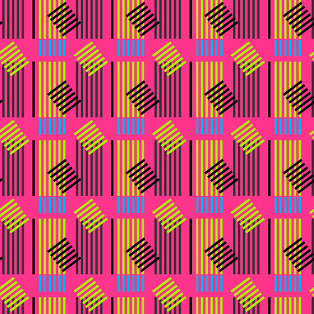 Vertical symmetrical building seamless pattern. Suitable for screen, print and other media.