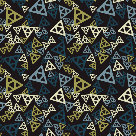 Triangular chaos seamless pattern. Authentic design for digital and print media. Illusztráció