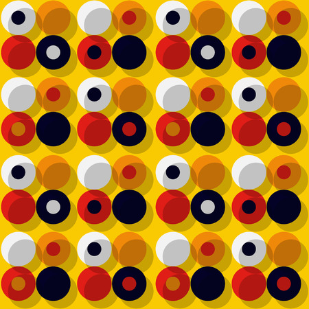 Orbit offset seamless pattern. Authentic design for digital and print media.