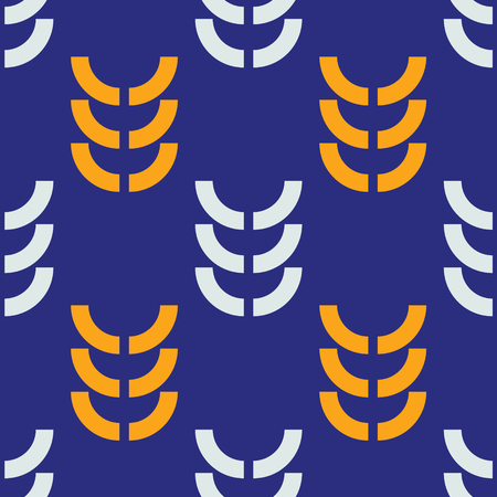 Harvest crop seamless pattern. Strict line geometric pattern for your design.