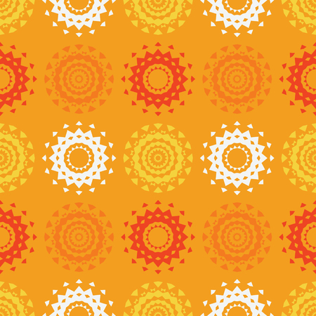 Circle symmetry different seamless pattern. Suitable for screen, print and other media. Vector illustration.