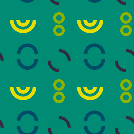 Unknown language signs or symbols seamless pattern. Suitable for screen, print and other media. colored vector illustration.  イラスト・ベクター素材