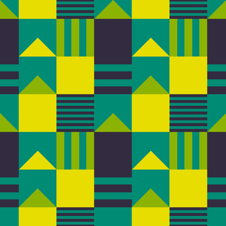 Symmetrical roof tops seamless pattern. Suitable for screen, print and other media.