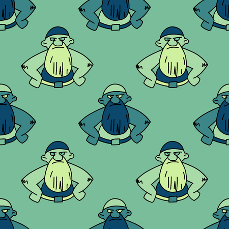 Angry man seamless pattern.