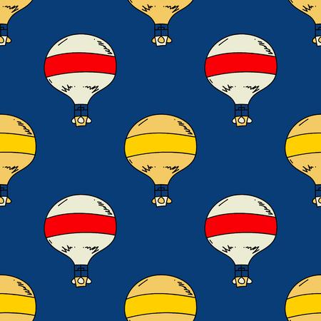 Hot air balloon seamless pattern. Ilustrace