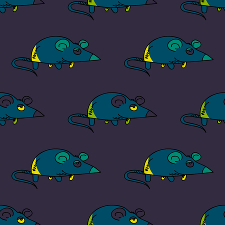 Funky mouse seamless pattern.