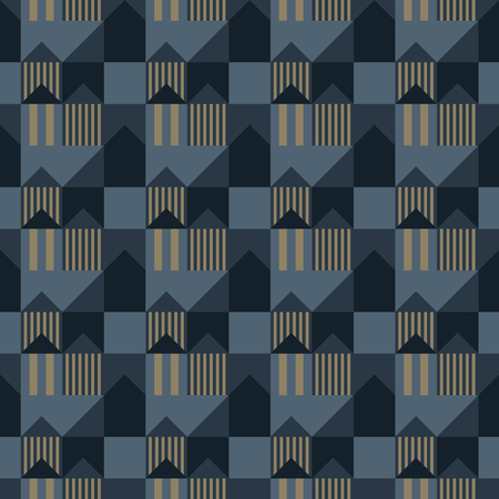 City scape seamless pattern. Suitable for screen, print and other media. Ilustração