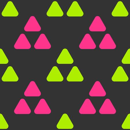 丘と三角形のシームレスなパターン。あなたのデザインのための厳密なライン幾何学模様。  イラスト・ベクター素材