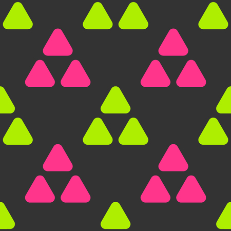 Hills and triangles seamless pattern. Strict line geometric pattern for your design.