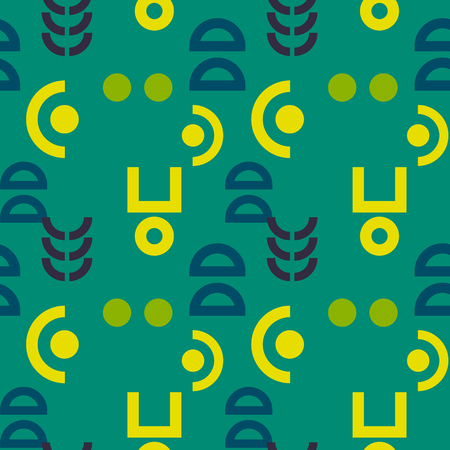 Alien signs seamless pattern. Suitable for screen, print and other media.