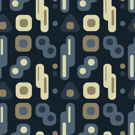 Nordic lights seamless pattern. Suitable for screen, print and other media. Vectores