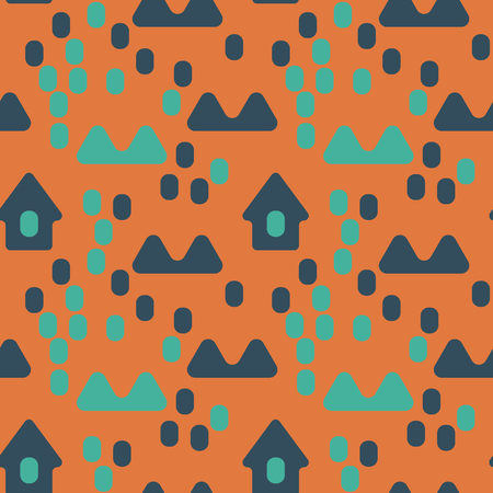 Nordic village seamless pattern suitable for screen, print and other media.