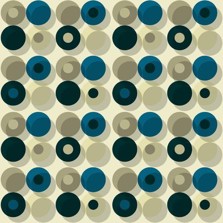 Orbit offset seamless pattern. Ilustrace