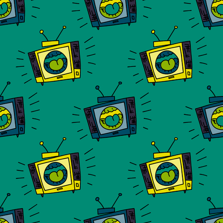 Loud television seamless pattern. Original design for print or digital media.