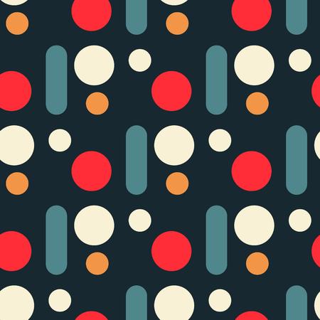 Regular circular seamless pattern. Original design for print or digital media.