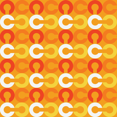 Link chain block seamless pattern. Suitable for screen, print and other media. Illustration