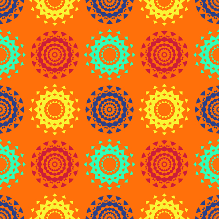 Circle symmetry different seamless pattern. Suitable for screen, print and other media. Illustration