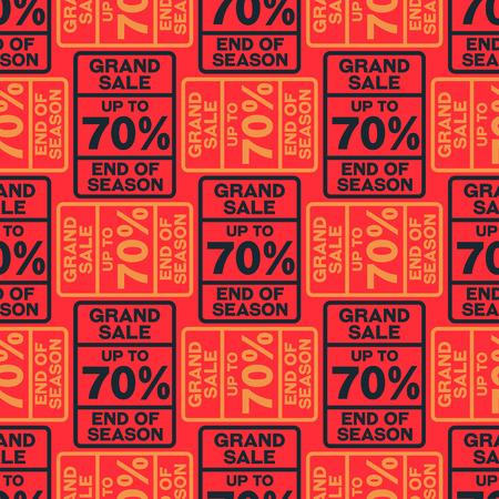 Seventy percent discount seamless pattern. Original design for print or digital media.