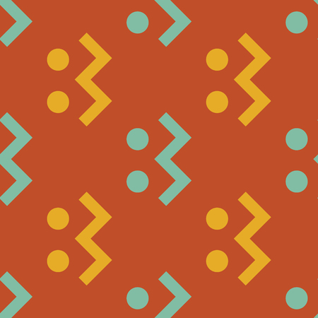 Creature running seamless pattern. Strict line geometric pattern for your design.