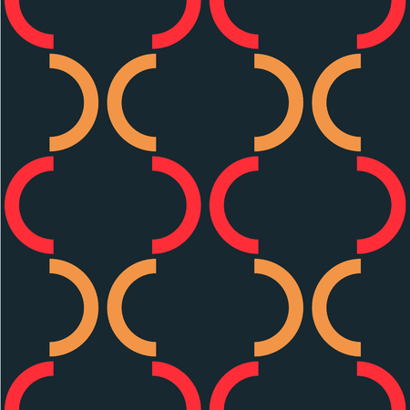 Ornate graphic seamless pattern. Strict line geometric pattern for your design.