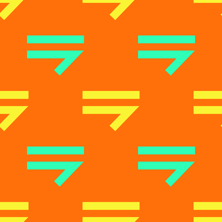 Arrow right seamless pattern. Strict line geometric pattern for your design. Illustration