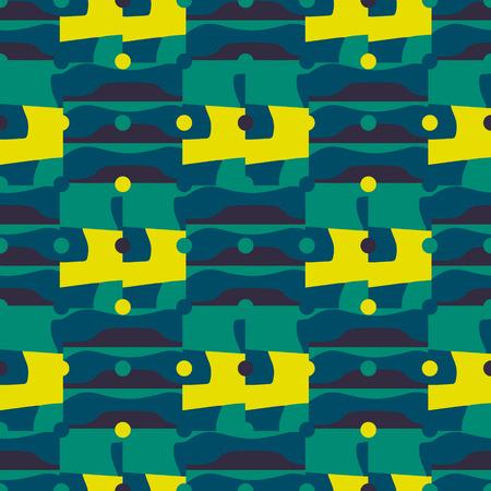 Displaced backdrop polka seamless pattern. Futuristic design, texture background, minimalism