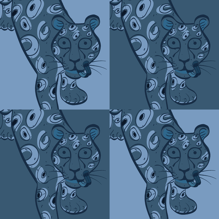 Leopard modern seamless design, natural background with touch of color Illustration