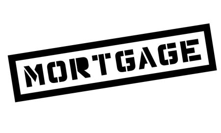 Mortgage typographic stamp. Black and red stamp series. Illustration