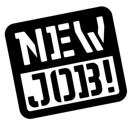 New job stencil stamp. Rectangular bold sign, label Vector illustration.