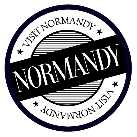 Normandy geographic stamp. City or country label, sign Vector illustration.