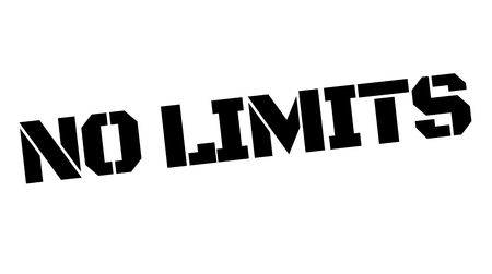 No limits black typographic stamp. Straight edge series. Vector illustration. Vectores