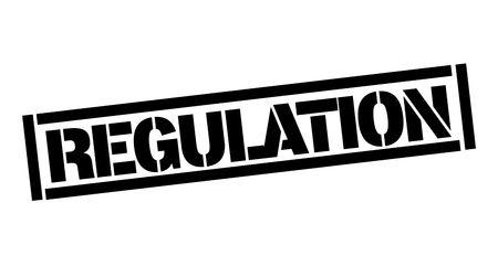 Regulation typographic stamp, sign, label. Black and red series Vector illustration.