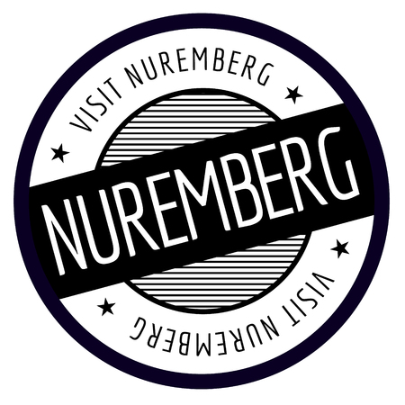 Nuremberg geographic stamp. City or country label, sign Vector illustration.
