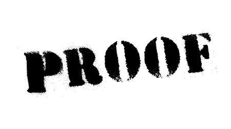 Proof black stamp, sign, label Black stencil series Vector illustration.
