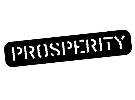 Prosperity black stamp, sign, label Black stencil series Vector illustration. 向量圖像