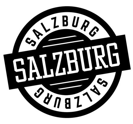 Salzburg black and white badge. City and country series. Illustration