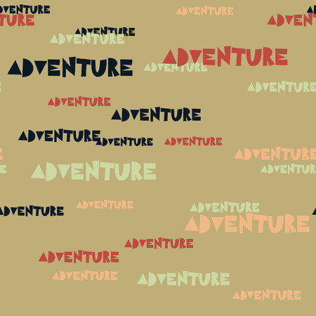 Adventure typography pattern. Typography only series. Minimal graphics