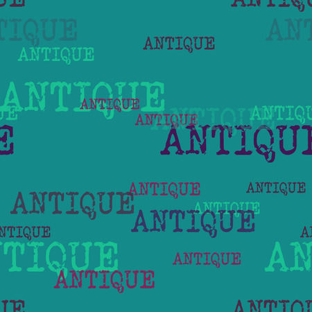 Antique typography pattern. Typography only series. Minimal graphics