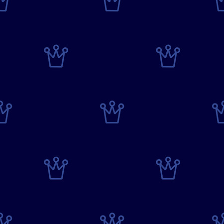 Royal crown pattern. Simple geometry series. Minimal graphics