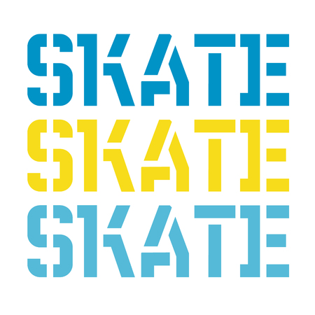 Skate typography t-shirt graphic, typographic series. Simple graphics. Vectores