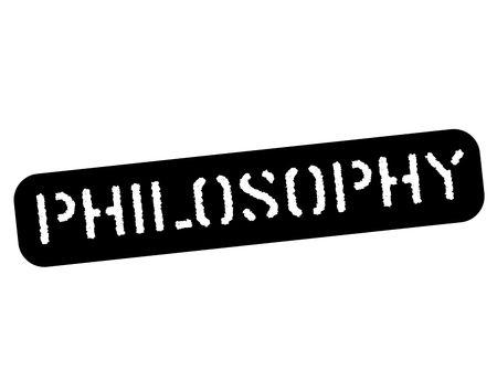 Philosophy black stamp, sign, label Black stencil series Illustration