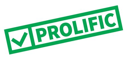 Prolific typographic stamp, sign, label Green check series