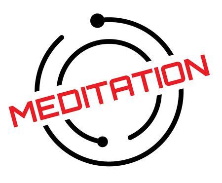 Meditation typographic label, sign. Clean modern series  イラスト・ベクター素材