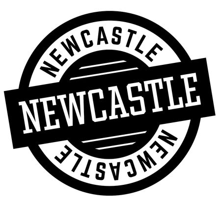 Newcastle black and white badge. City and country series. Illustration