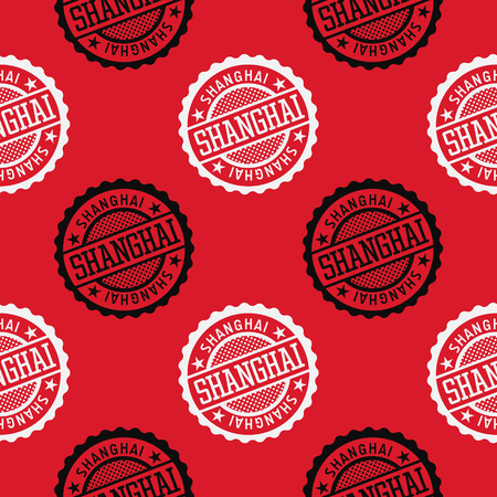 Shanghai seamless pattern, badge pattern, backdrop for your design.