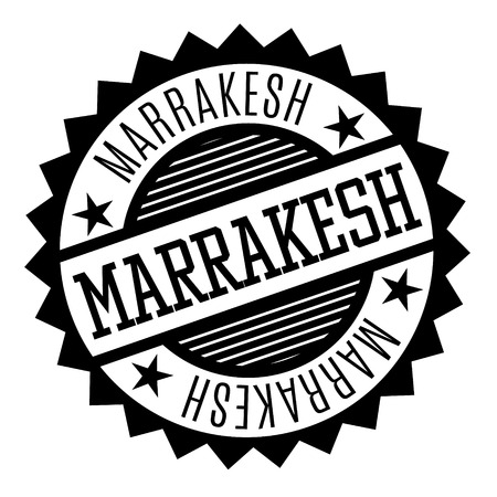 Marrakesh black and white badge. Geographic series.