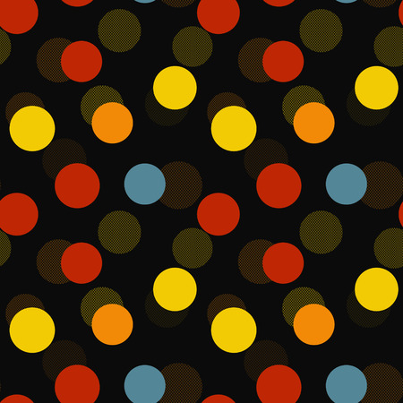 Abstract colorful circle seamless pattern.