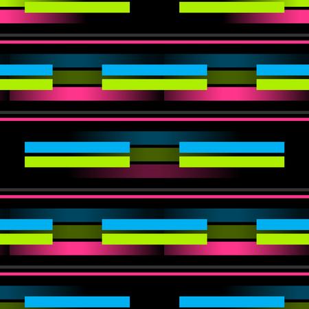 3d lines horizontal seamless pattern. Business geometry series.