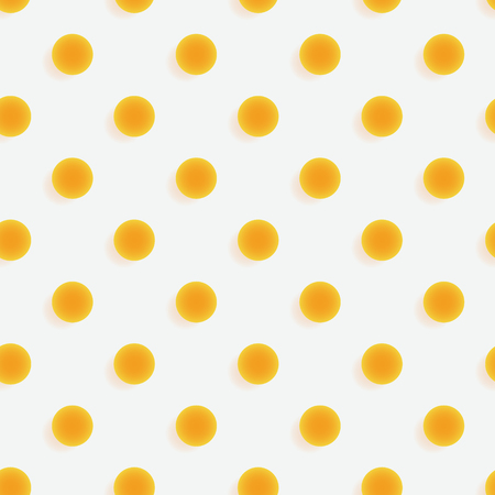 Polka dots 3d seamless pattern. Three dimensional depth series.