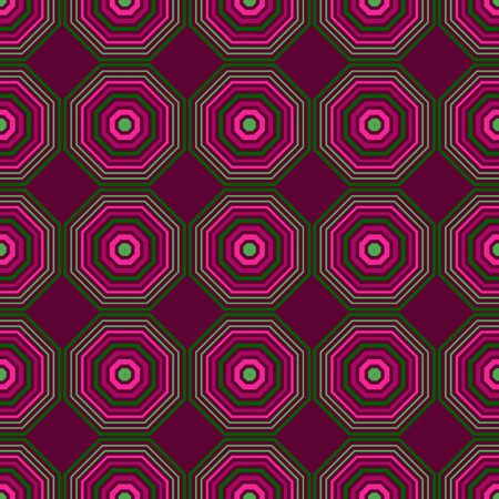 Vibrant hexagon seamless pattern, abstract colorful background, texture